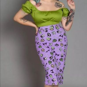 SOLD OUT XS eden monster skirt pin up girl couture